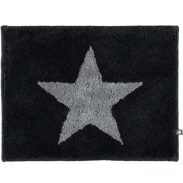 Rhomtuft - Badteppich STAR 216 - Farbe: schwarz/graphit - 1464 60x60 cm