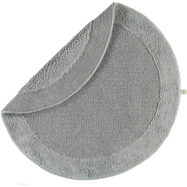 Rhomtuft - Badteppiche Exquisit - Farbe: kiesel - 85 100 cm rund