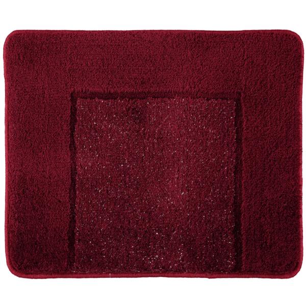 Rhomtuft RHOMY - Badteppich Versailles 255 - Farbe: bordeauxrot/lurex - 407 50x60 cm