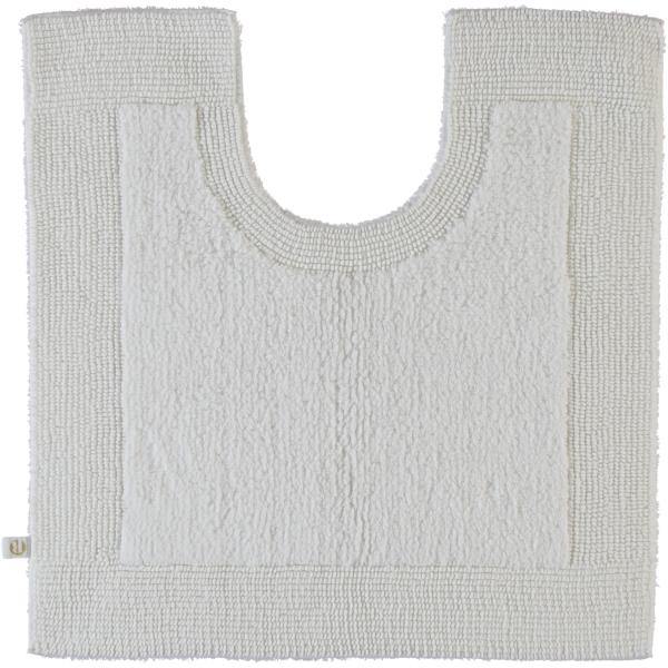 Rhomtuft - Badteppiche Prestige - Farbe: weiss - 01 Toilettenvorlage mit Ausschnitt 60x60 cm