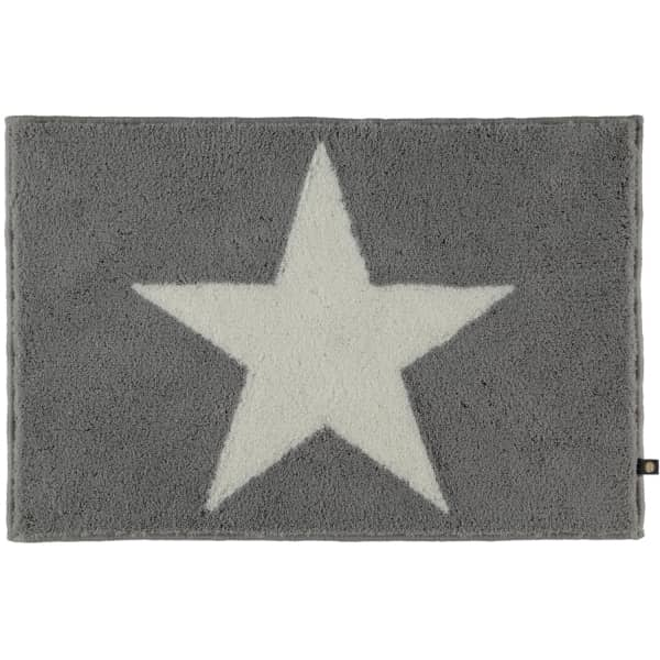Rhomtuft - Badteppich STAR 216 - Farbe: edelstahl/weiss - 1215