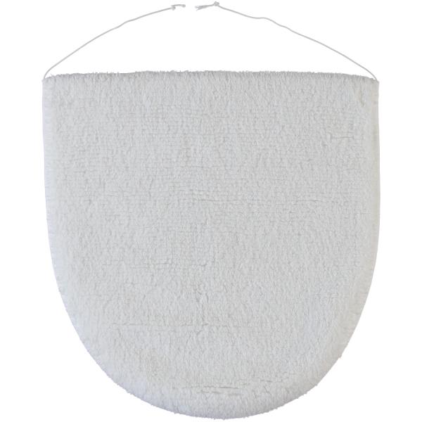 Rhomtuft - Badteppiche Prestige - Farbe: weiss - 01 Deckelbezug 45x50 cm