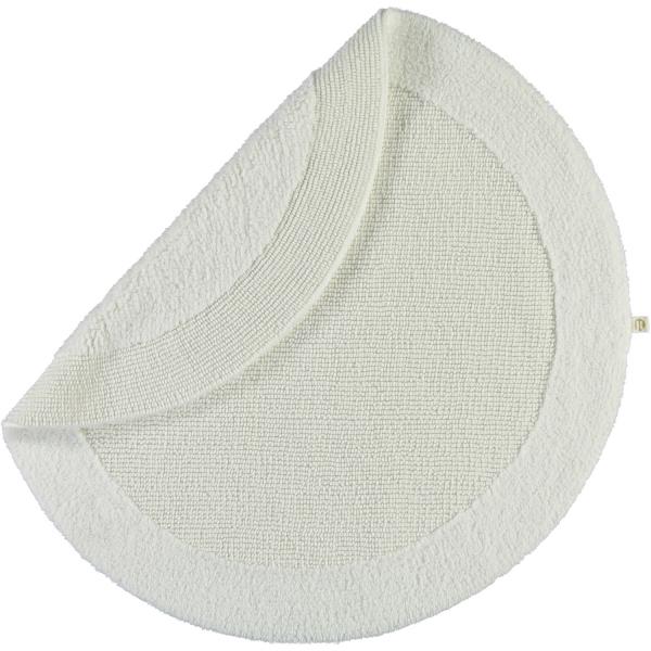 Rhomtuft - Badteppiche Exquisit - Farbe: weiss - 01 100 cm rund