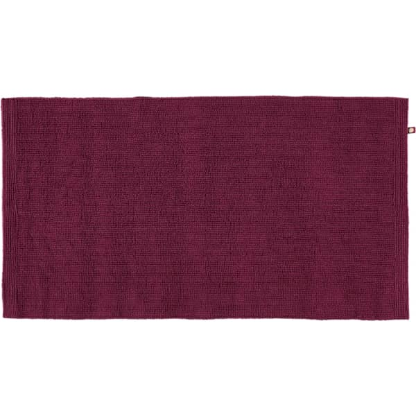 Rhomtuft - Badteppich Pur - Farbe: berry - 237 70x130 cm