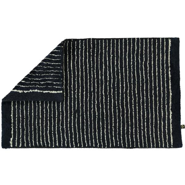 Rhomtuft - Badteppich Lin - Farbe: schwarz-natur - 1160 70x130 cm