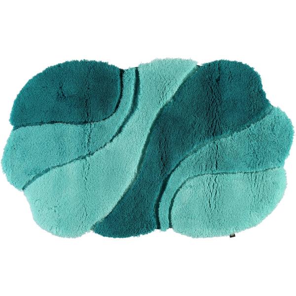 Rhomtuft - Badteppich Ambiente - Farbe: calypso/malachit/eukalyptus - 1307