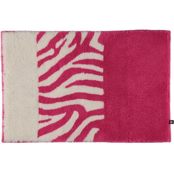 Rhomtuft - Badteppiche Zebra - Farbe: fuchsia/weiss - 1403 70x130 cm