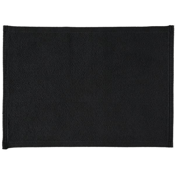Rhomtuft - Badteppiche Plain - Farbe: schwarz - 15 50x70 cm