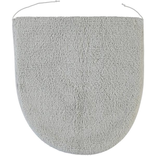 Rhomtuft - Badteppiche Prestige - Farbe: perlgrau - 11 Deckelbezug 45x50 cm