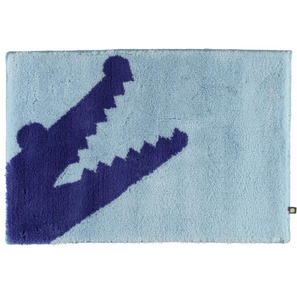 Rhomtuft - Badteppich Croc - Farbe: air/ultramarin - 1211 60x90 cm