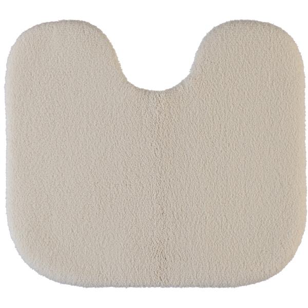Rhomtuft - Badteppiche Aspect - Farbe: natur-jasmin - 20 Toilettenvorlage mit Ausschnitt 55x60 cm
