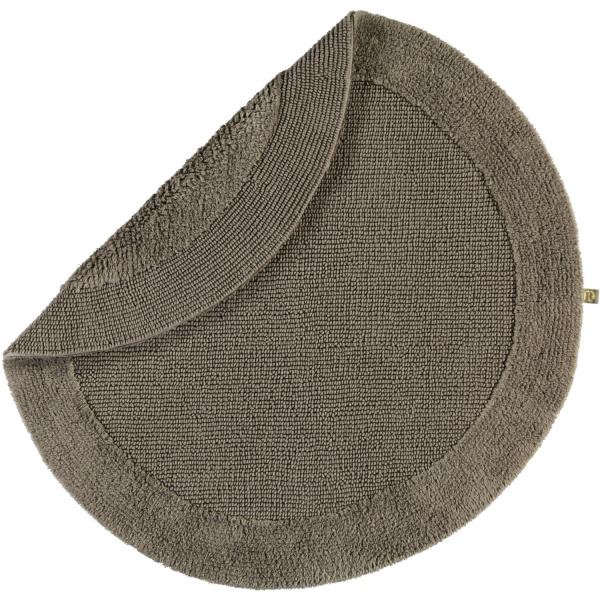 Rhomtuft - Badteppiche Exquisit - Farbe: taupe - 58 100 cm rund