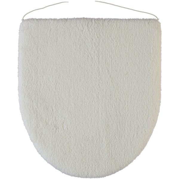 Rhomtuft - Badteppiche Square - Farbe: weiss - 01 Deckelbezug 45x50 cm