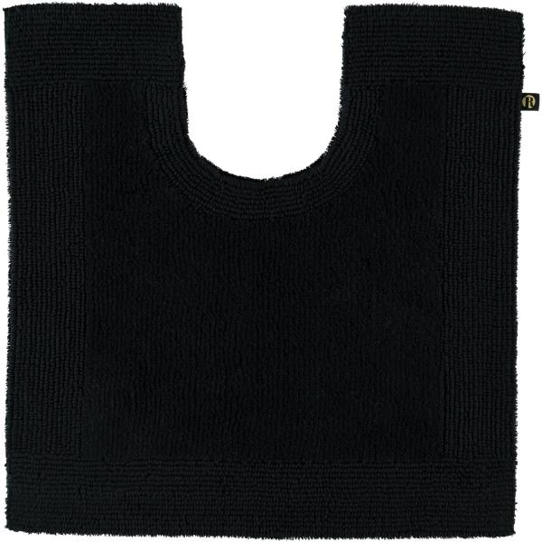 Rhomtuft - Badteppiche Prestige - Farbe: schwarz - 15 Toilettenvorlage mit Ausschnitt 60x60 cm