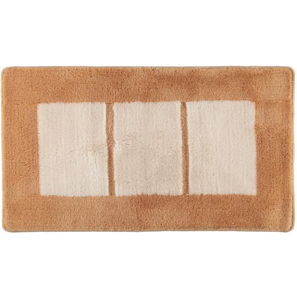 Rhomtuft RHOMY - Badteppich Liberty 256 - Farbe: beige/weiß - 410 65x115 cm