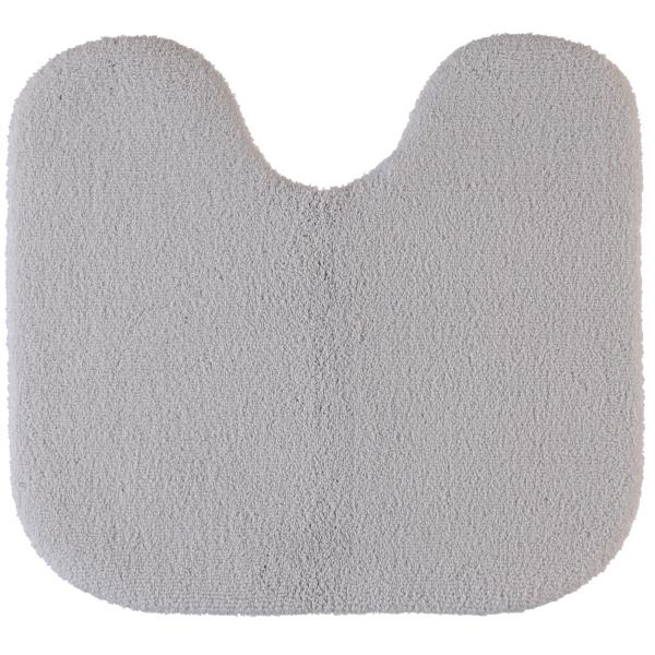 Rhomtuft - Badteppiche Aspect - Farbe: perlgrau - 11 Toilettenvorlage mit Ausschnitt 55x60 cm