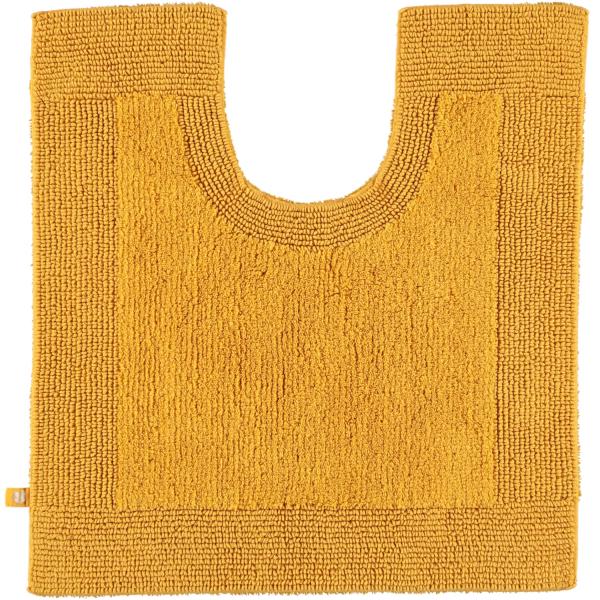 Rhomtuft - Badteppiche Prestige - Farbe: gold - 348 Toilettenvorlage mit Ausschnitt 60x60 cm