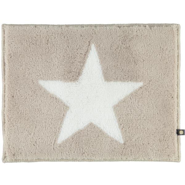 Rhomtuft - Badteppich STAR 216 - Farbe: stone/weiß - 1335 50x65 cm