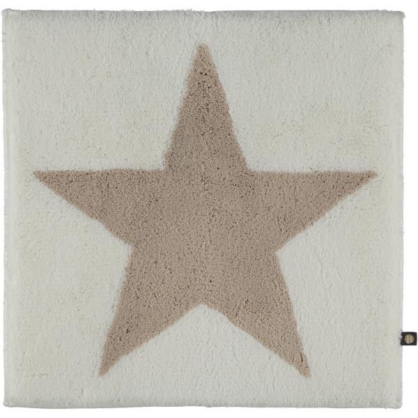 Rhomtuft - Badteppich STAR 216 - Farbe: weiß/stone - 1340 60x60 cm