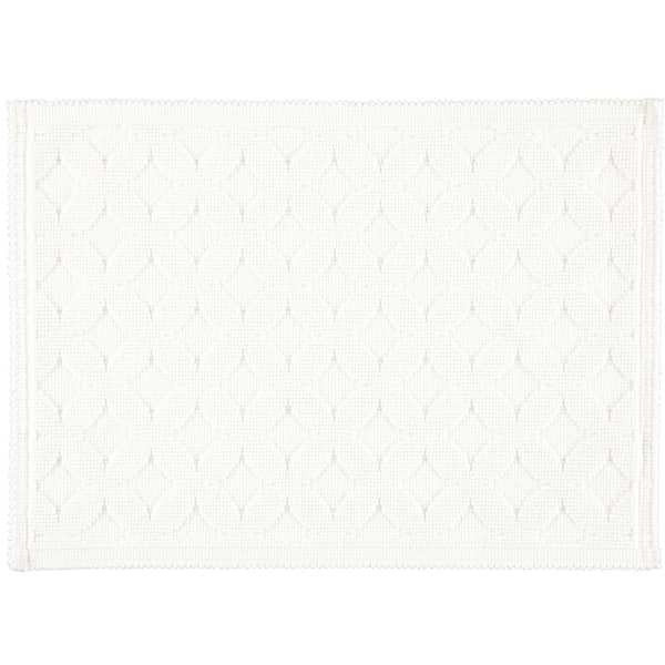 Rhomtuft - Badematte Seaside - Farbe: weiß - 01 50x70 cm