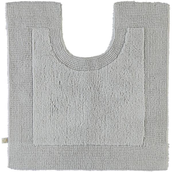Rhomtuft - Badteppiche Prestige - Farbe: perlgrau - 11 Toilettenvorlage mit Ausschnitt 60x60 cm