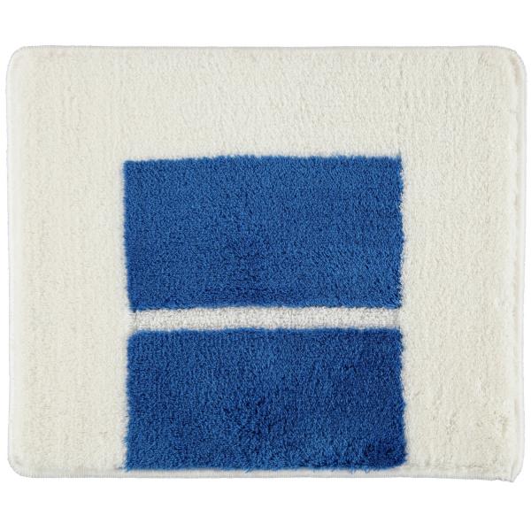 Rhomtuft RHOMY - Badteppich Liberty 256 - Farbe: weiß/blau - 844 50x60 cm