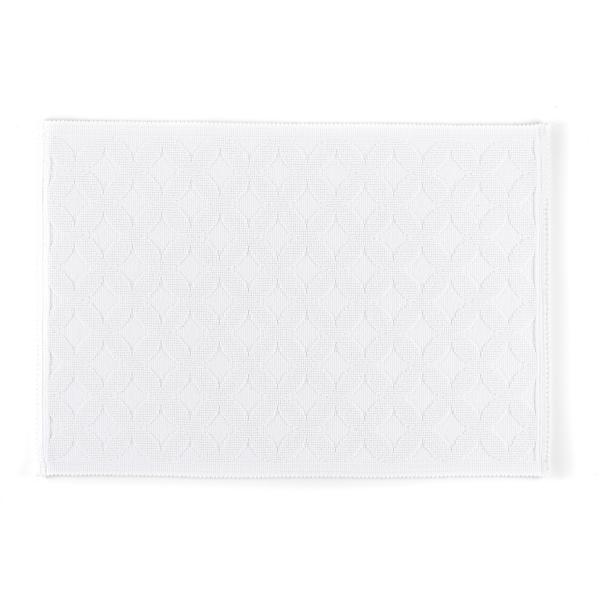 Rhomtuft - Badematte Seaside - Farbe: weiß - 01 60x90 cm
