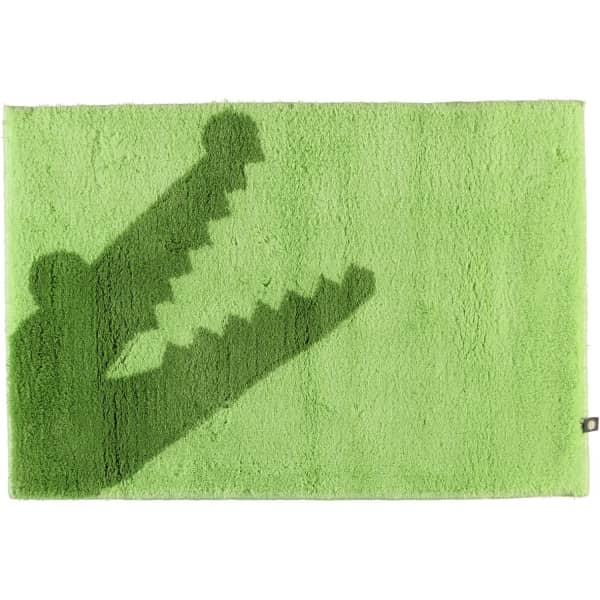 Rhomtuft - Badteppich Croc - Farbe: apfel/lind - 1207 70x130 cm