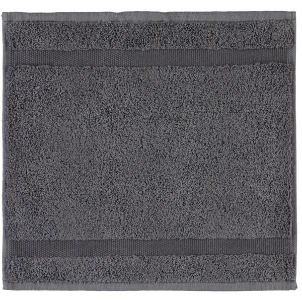 Rhomtuft - Handtücher Princess - Farbe: zinn - 02 Seiflappen 30x30 cm