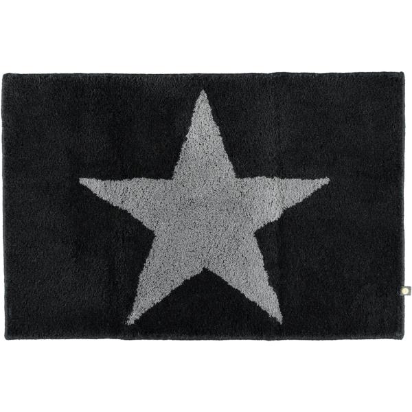 Rhomtuft - Badteppich STAR 216 - Farbe: schwarz/graphit - 1464 60x90 cm