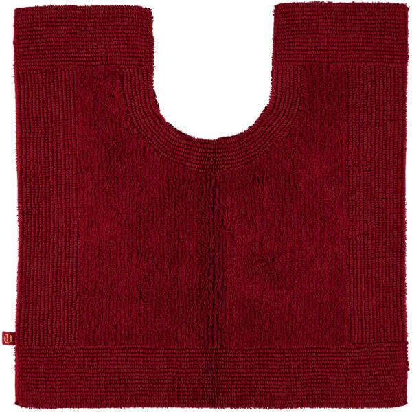 Rhomtuft - Badteppiche Prestige - Farbe: cardinal - 349 Toilettenvorlage mit Ausschnitt 60x60 cm