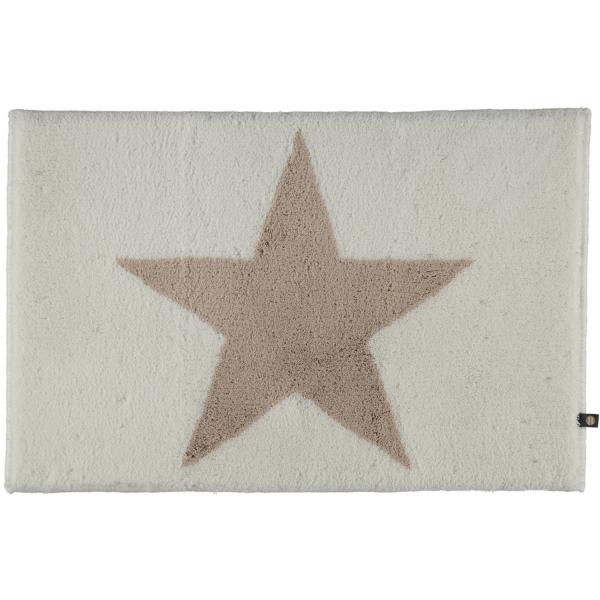 Rhomtuft - Badteppich STAR 216 - Farbe: weiß/stone - 1340 70x120 cm